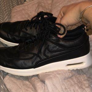 Leather nikes
